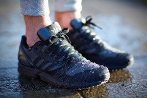 adidas trainers mens zx flux weave navy goretex