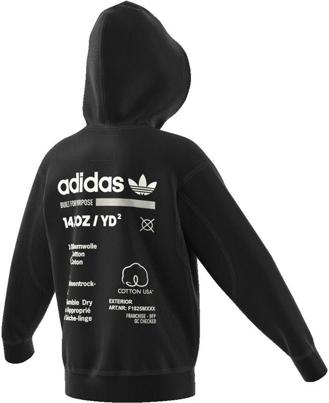 Adidas Originals Junior Kaval Full Zip Hoodie Black White