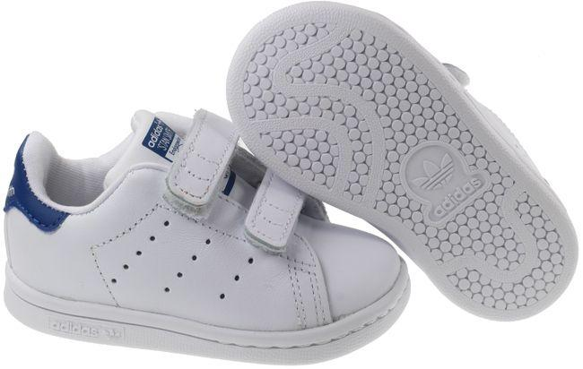 Adidas Trainers Infant Stan Smith Footwear White EQT Blue Velcro