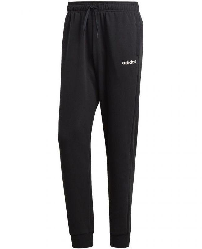 Adidas Men Plain Fleece Track Pant Black