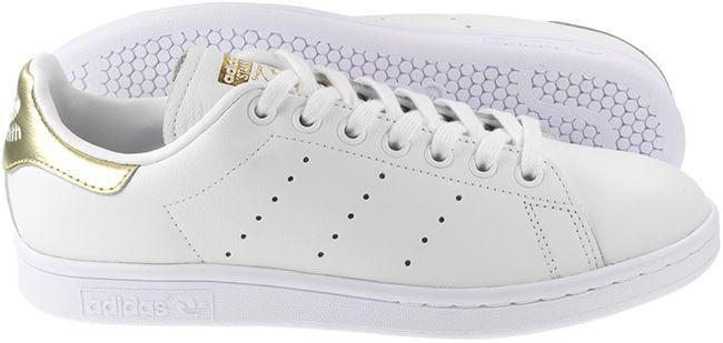 Adidas Originals Trainers Womens Stan Smith White Gold