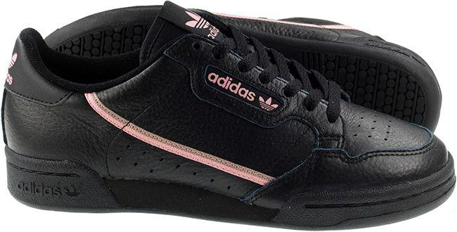 Adidas Originals Womens Continental 80 Core Black Trace Pink