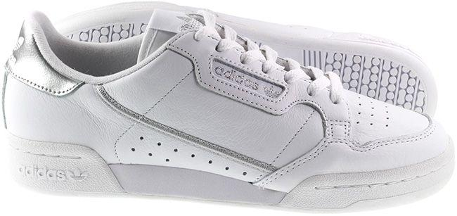 Adidas Originals Womens Continental 80 White Silver