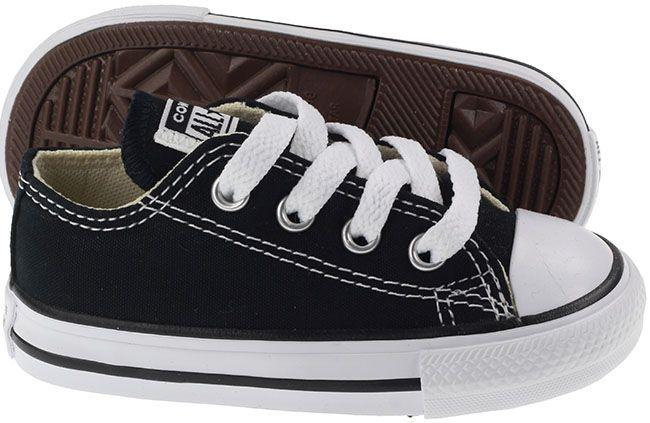 Converse Infants Chuck Taylor All Star Ox Low Black White