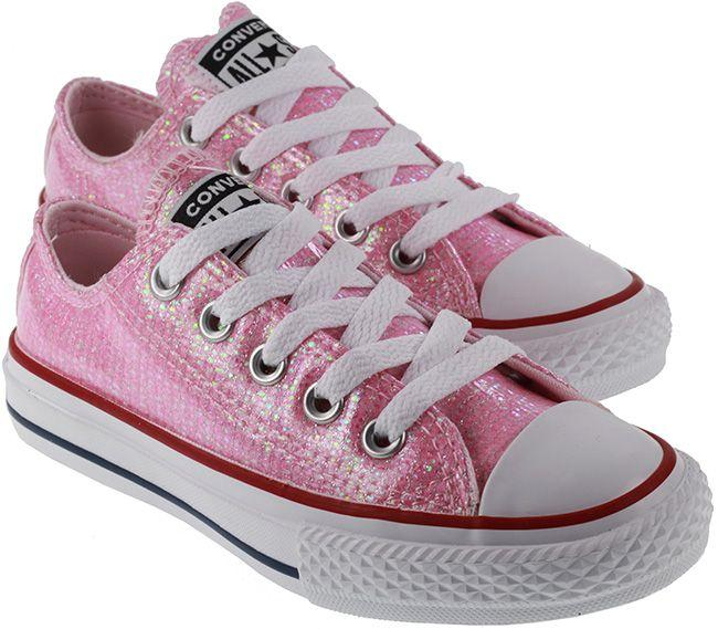 Converse Kids Chuck Taylor All Star Ox Pink Foam Enamel Red White