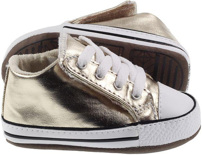 Converse Shoes Infants Chuck Taylor Cribster Mid Light Gold
