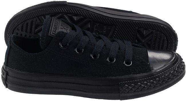 Converse Shoes Kids All Star Ox Low Mono Black Canvas