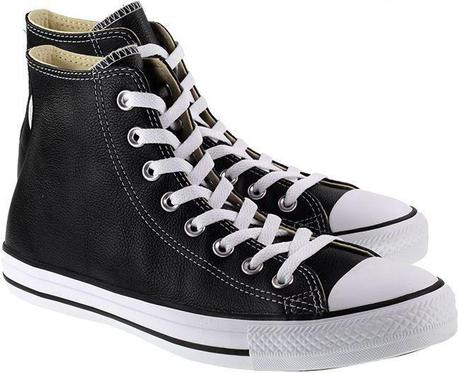 Converse Womens Chuck Taylor All Star Hi Leather Black White