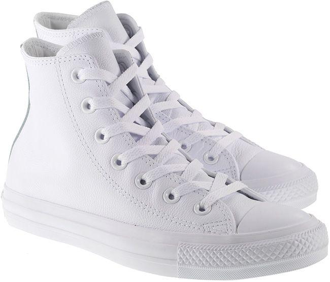 Converse Womens Chuck Taylor All Star Hi Leather White Monochrome