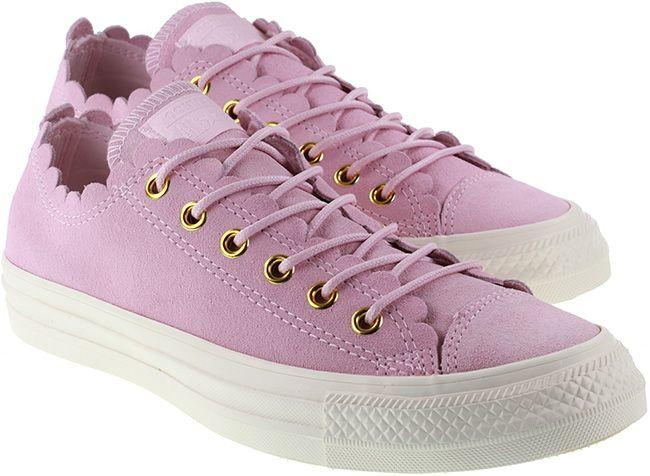 Converse Womens Chuck Taylor All Star Ox Pink Foam Gold Egret