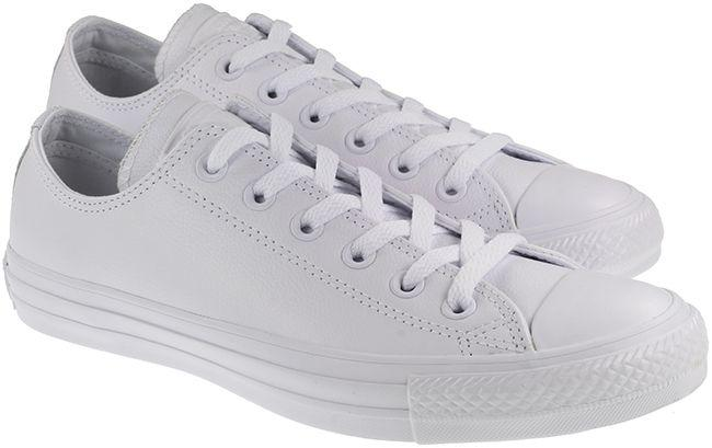 Converse Womens Shoes All Star Ox Low White Leather