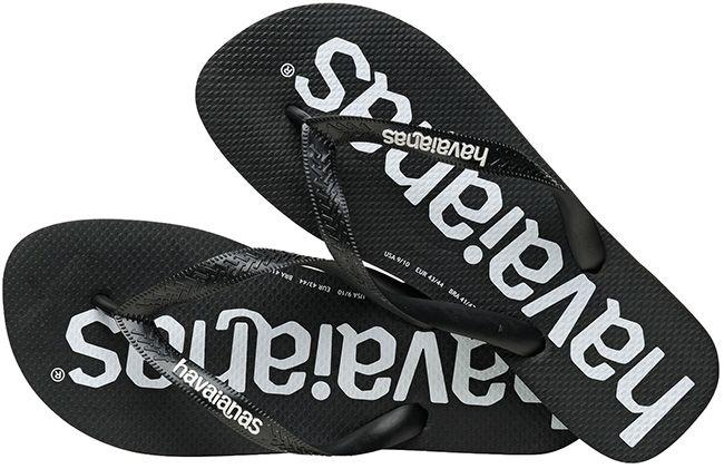 Havaianas Mens Flip Flops Top Logomania Black