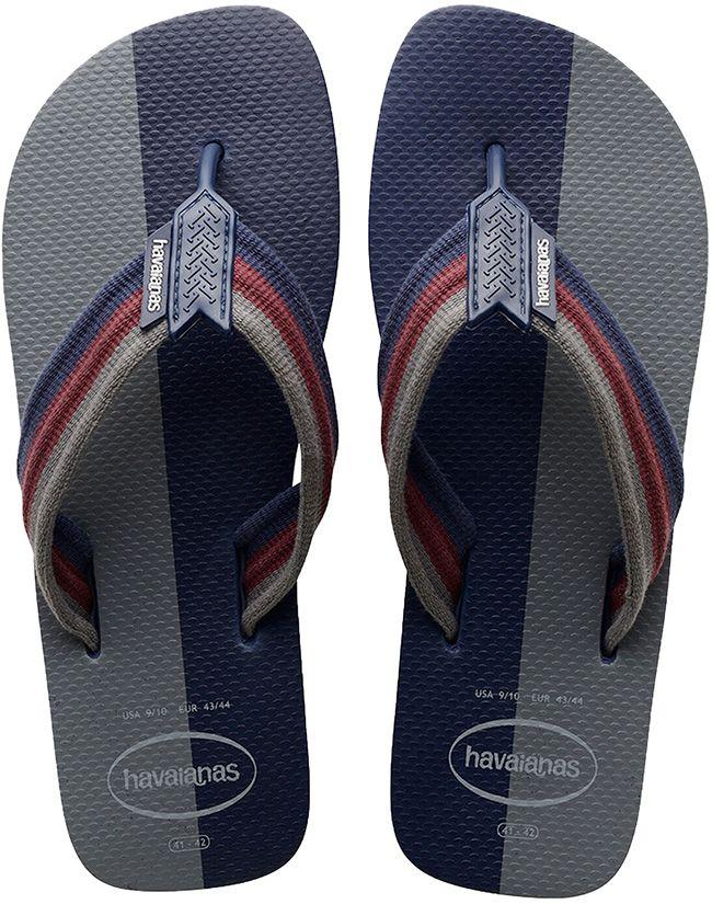 Havaianas Mens Flip Flops Urban Colour Block Navy Blue Grey