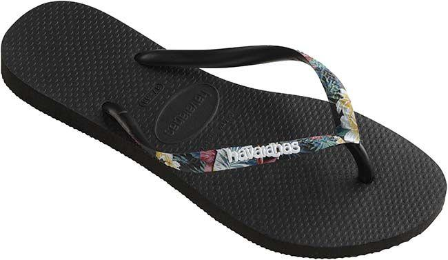 Havaianas Slim Strapped Black Mistic