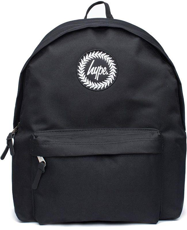 Hype Accessories Black Badge Backpack Black