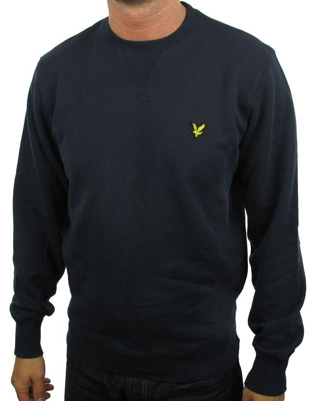Lyle and Scott Vintage Mens Crew Sweatshirt Navy