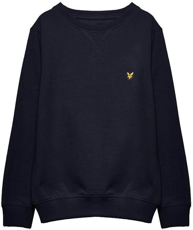 Lyle and Scott Kids Classic Crew Neck Sweatshirt Deep Indigo
