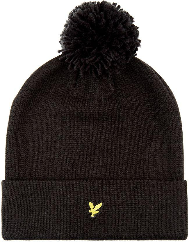 Lyle and Scott Accessories Bobble Beanie True Black