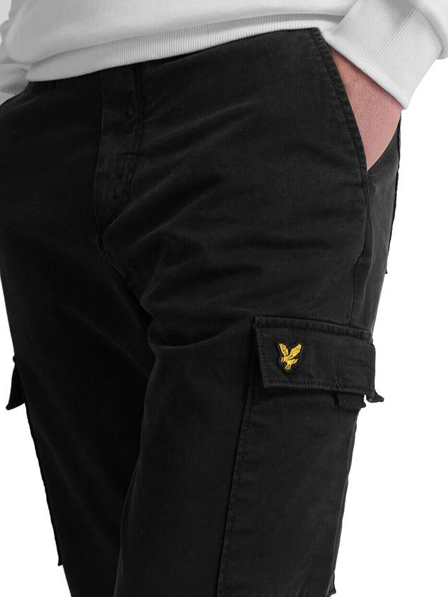 Lyle and Scott Mens Cargo Trouser Jet Black