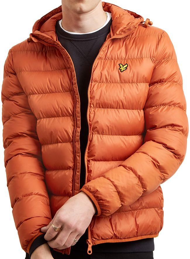 Lyle and Scott Mens Lightweight Puffer Jacket Tobacco