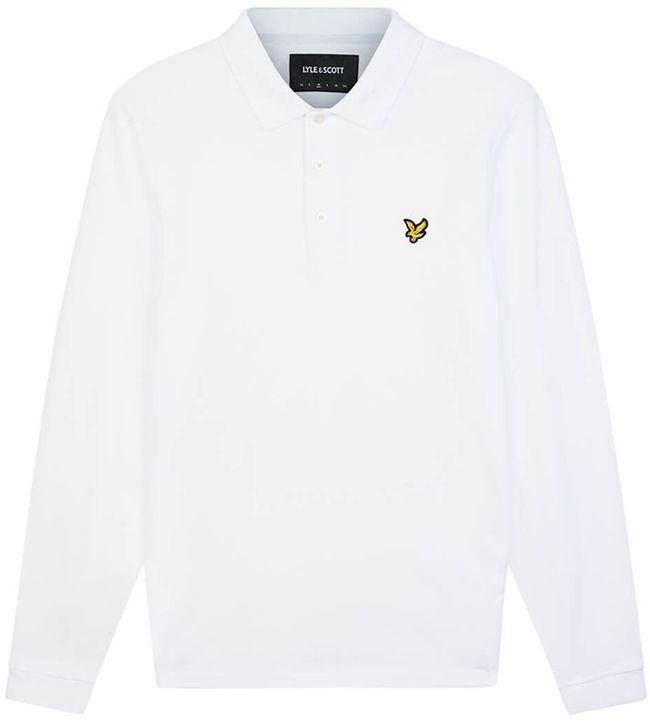 Lyle and Scott Mens Long Sleeve Polo Shirt White