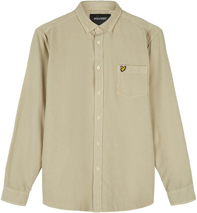Lyle and Scott Mens Needle Cord Shirt Sesame