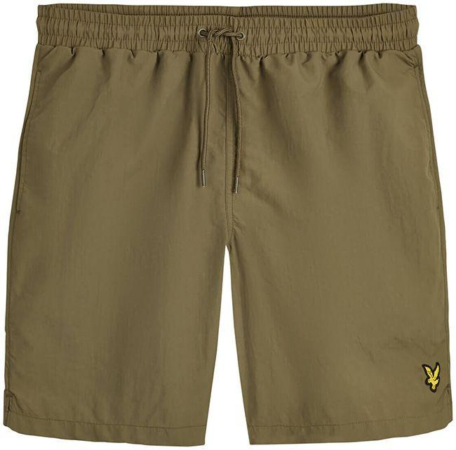 Lyle and Scott Mens Plain Swim Shorts Lichen Green