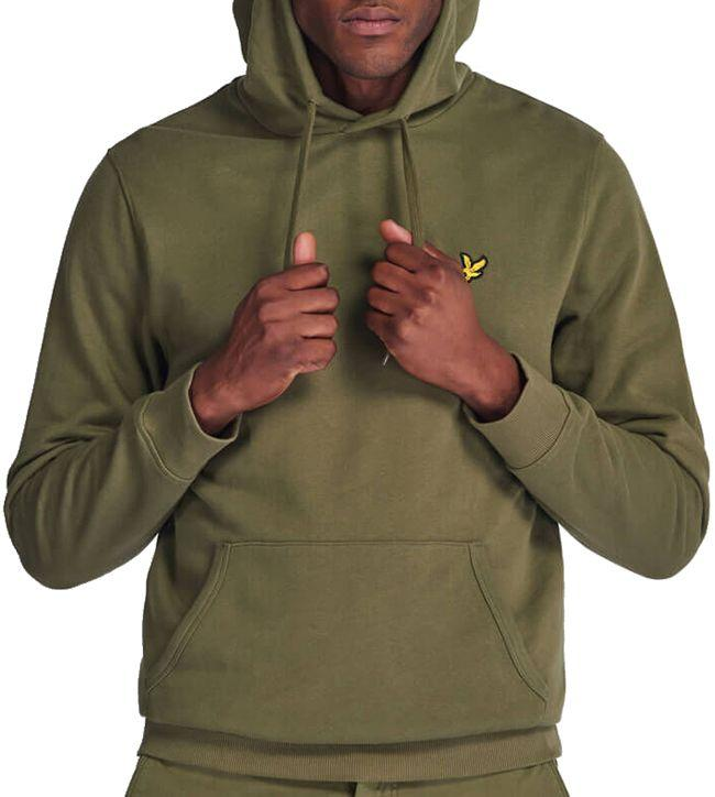 Lyle and Scott Mens Pullover Hoodie Lichen Green