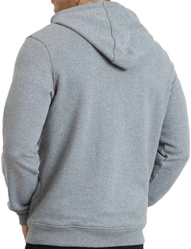 Lyle and Scott Mens Pullover Hoodie Mid Grey Marl