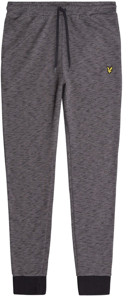 Lyle and Scott Mens Space Dye Track Pant Dark Grey