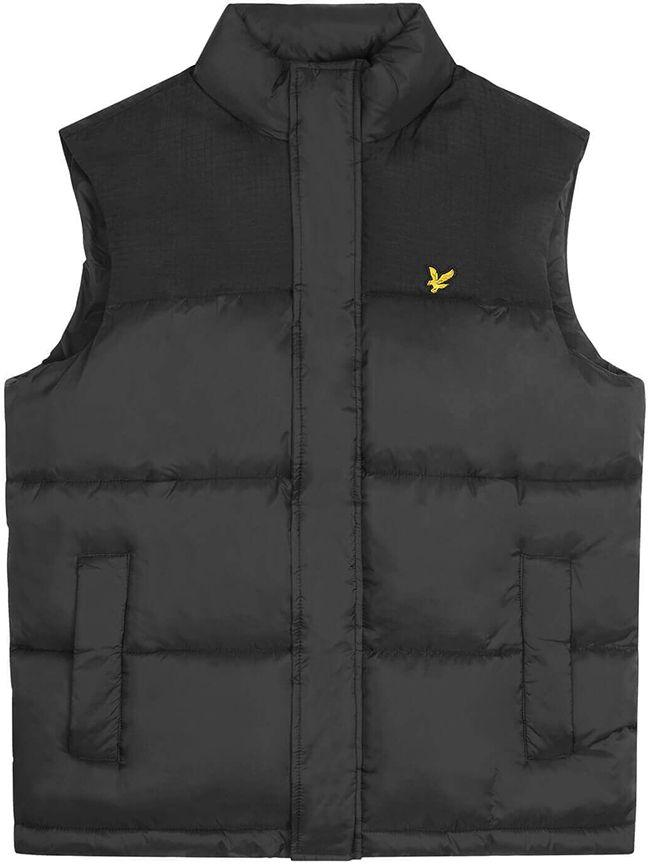 Lyle and Scott Mens Wadded Gilet Jet Black