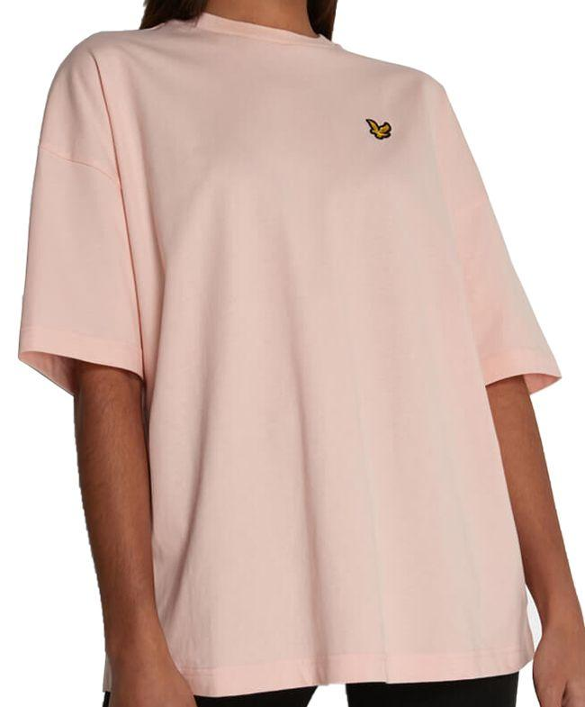 Lyle and Scott Womens Oversized T Shirt Rosewater