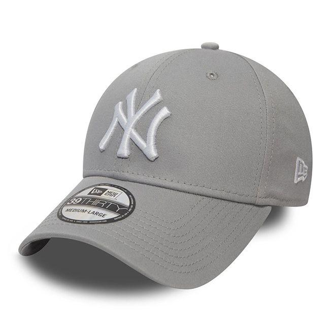 New Era Headwear 39Thirty League Basic New York Yankees Grey White