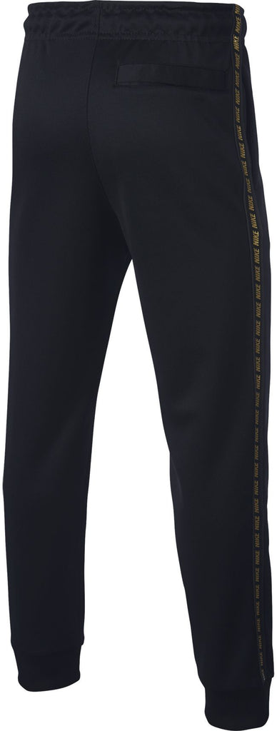 Nike Juniors Sportswear Repeat Jog Pant Poly Black Metallic Gold
