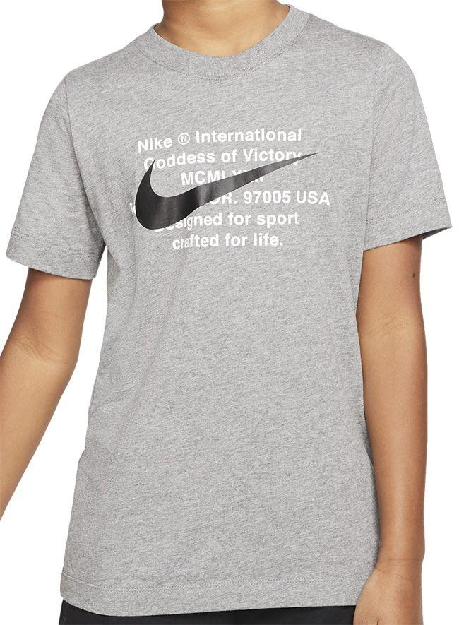 Nike Kids Sportswear Swoosh For Life T Shirt Carbon Heather