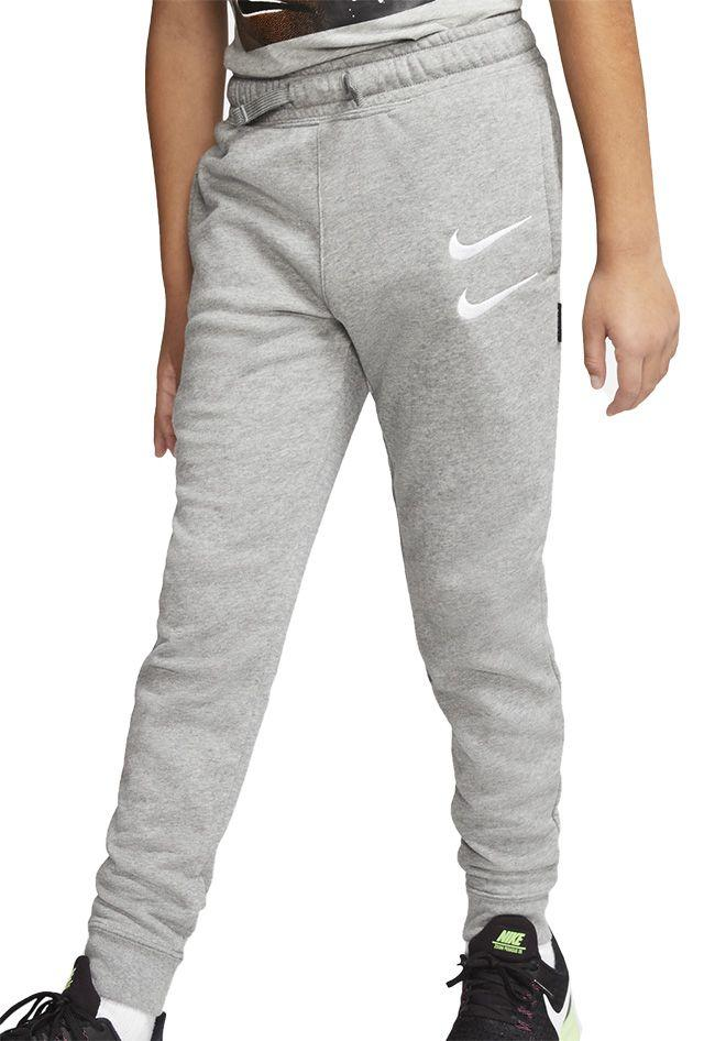 Nike Kids Sportswear Swoosh Jog Pant Carbon Heather White