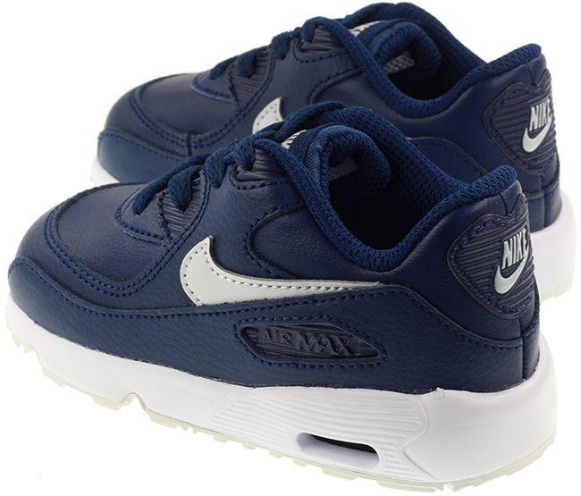 Nike Shoes Infant Air Max 90 Leather Blue Void Pure Platinum White