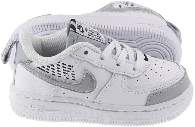 Nike Shoes Infants Air Force 1 LV8 2 White Wolf Grey Black Total Orange