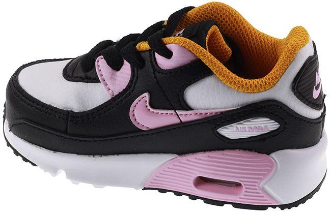 Nike Shoes Infants Air Max 90 Leather Black Arctic Pink Dark Sulpfur
