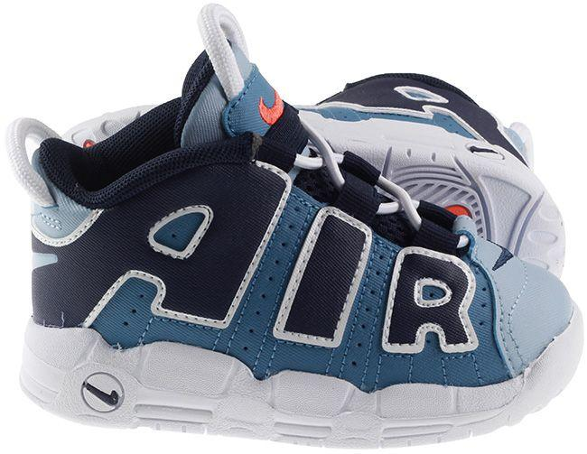 Nike Shoes Infants Air More Uptempo Aegean Storm Blackened Blue Total Orange