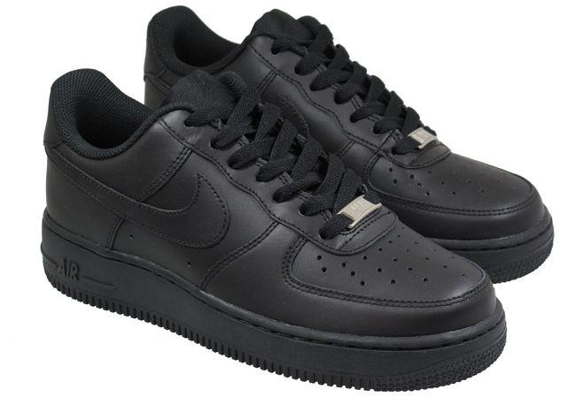 Nike Air Force 1 Black Trainers for