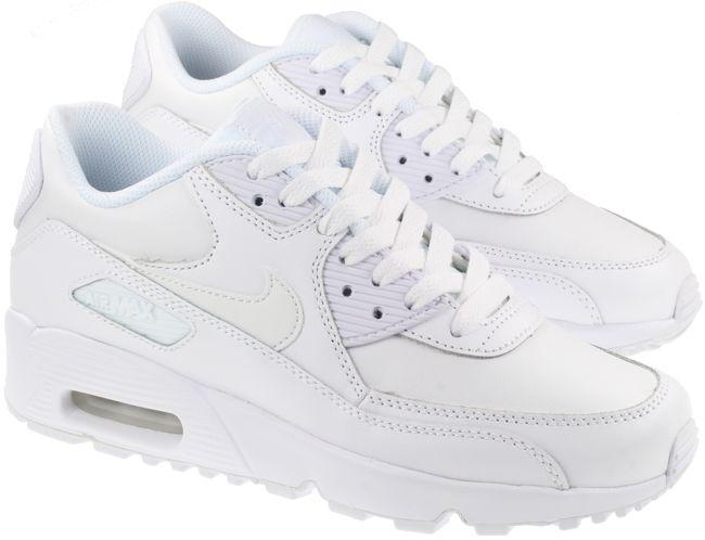 Nike Shoes Junior Air Max 90 Leather White