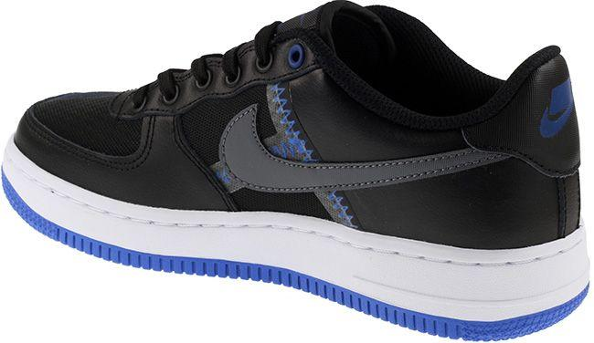 Nike Shoes Juniors Air Force 1 LV8 1 Black Dark Grey Racer Blue Mystic Navy