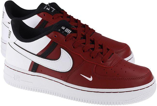 Nike Shoes Juniors Air Force 1 LV8 2 Team Red Black White