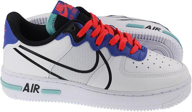 Nike Shoes Juniors Air Force 1 React White Astronomy Blue