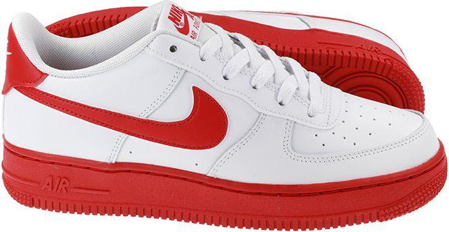 Nike Shoes Juniors Air Force 1 White Red