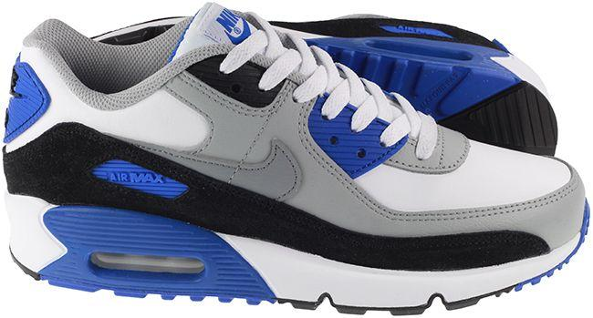Nike Shoes Juniors Air Max 90 Leather White Hyper Royal