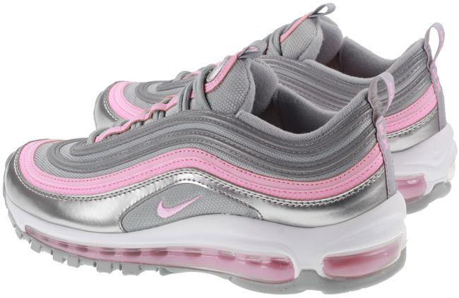 Nike Shoes Juniors Air Max 97 Metallic Silver Pink Smoke Grey White