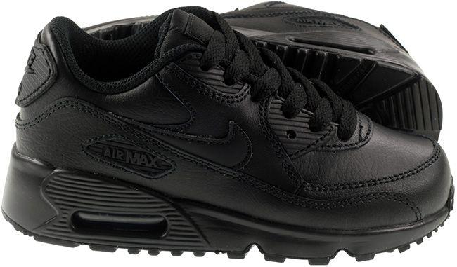 Nike Shoes Kids Air Max 90 Leather BR Black Black