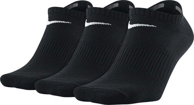 Nike Accessories Performance Lightweight No-Show Training Sock (3 Pair) Black White